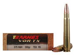 Barnes VOR-TX Safari Ammunition 375 H&H Magnum 300 Grain Triple-Shock X Bullet Hollow Point Flat ...
