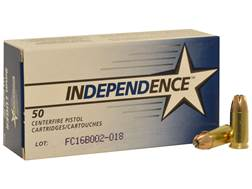 Independence Ammunition 9mm Luger 115 Grain Jacketed Hollow Point