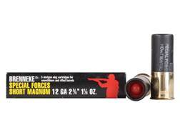 "Brenneke USA Special Forces Short Magnum Ammunition 12 Gauge 2-3/4"" 1-1/4 oz Lead Slug Box of 5"
