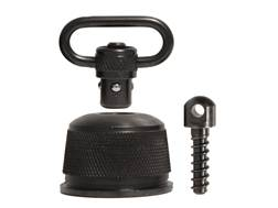 "GrovTec Push Button Magazine Cap with 1"" Quick Detach Sling Swivel 12 Gauge Steel Black"