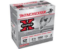 "Winchester Xpert High Velocity Ammunition 12 Gauge 2-3/4"" 1-1/16 oz #4 Non-Toxic Steel Shot"