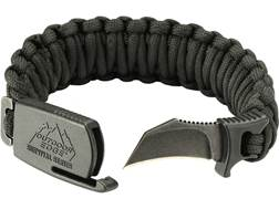 "Outdoor Edge Para-Claw Fixed Blade Knife Paracord Bracelet 1.5"" Hawkbill 8Cr13MoV Stainless Steel..."