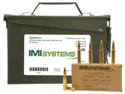 IMI Ammunition 7.62x51mm NATO 168 Grain Razor Core Hollow Point Boat Tail Ammo Can of 160 (8 boxe...