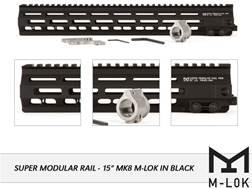 Geissele Super Modular Rail MK8 M-Lok Free Float Handguard with Low Profile Gas Block AR-15
