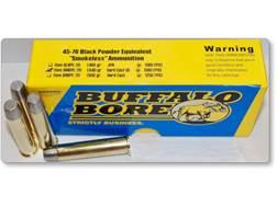 Buffalo Bore Smokeless Blackpowder Equivalent Ammunition 45-70 Government 440 Grain Hard Cast Gas...