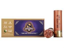 "Hevi-Shot Dead Coyote Ammunition 12 Gauge 3"" #4 Buckshot Non-Toxic 30 Pellets Box of 10"