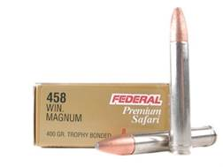 Federal Premium Cape-Shok Ammunition 458 Winchester Magnum 400 Grain Trophy Bonded Bear Claw