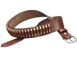 Triple K 100 Heavy Saddle Leather Pistol Cartridge Belt 22 Caliber Walnut Oil