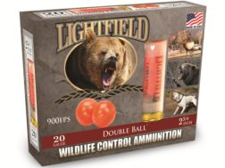 "Lightfield Wildlife Control Less Lethal Ammunition 20 Gauge 2-3/4"" Mid-Range Rubber Ball Box of 5"
