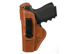 BLACKHAWK! Inside the Waistband Holster Left Hand Leather Belt Clip S&W M&P Shield Leather Brown