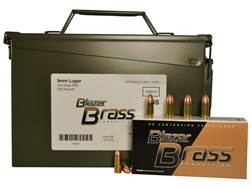 Blazer Brass Ammunition 9mm Luger 124 Grain Full Metal Jacket Ammo Can of 350 (7 Boxes of 50)