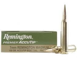 Remington Premier Ammunition 7mm Remington Magnum 150 Grain AccuTip Boat Tail Box of 20
