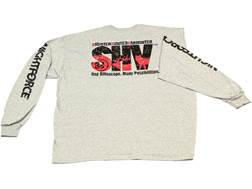 Nightforce SHV T-Shirt Long Sleeve Cotton Gray