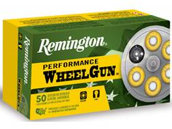 Remington Performance WheelGun Ammunition 38 S&W 146 Grain Lead Round Nose Box of 50