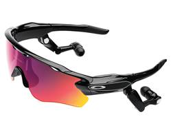 Oakley Radar Pace Polarized Sunglasses Polished Black Frame/Prizm Road and Clear Lenses