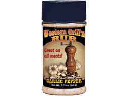 Hi Mountain Western Grill 'N Rub Garlic Pepper Seasoning 2.25 oz