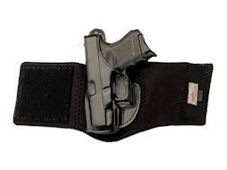 """Opened Package Left Hand 1911 with 3"""" Barrel Leather with Neoprene Leg Band Black"""