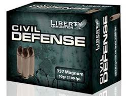 Liberty Civil Defense Ammunition 357 Magnum 50 Grain Fragmenting Hollow Point Lead-Free Box of 20