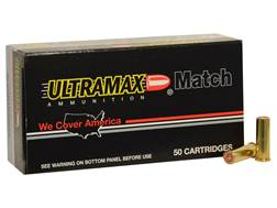 Ultramax Ammunition 38 Special 148 Grain Lead Match Hollow Base Wadcutter Box of 50