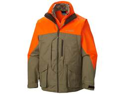 Columbia Men's Ptarmigan 2-n-1 Interchange Upland Parka Poly/Cotton/Nylon Flax and Blaze Orange