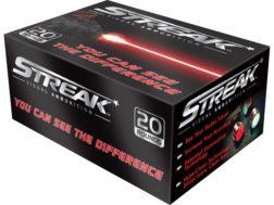 Streak Ammunition 9mm Luger 147 Grain STRK Red Cold Tracer Box of 20