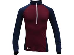 Under Armour Women's UA Freedom Tech 1/2 Zip Shirt Long Sleeve Polyester Maroon Large