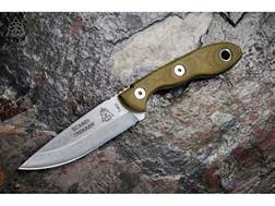 """TOPS Knives Scandi Trekker Fixed Blade Knife 3.63"""" Hunters Point 1095 High Carbon Alloy Blade Can..."""