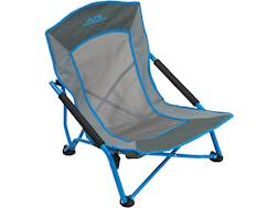 ALPS Mountaineering Rendezvous Low-Profile Folding Chair Steel and Polyester Ocean/Charcoal