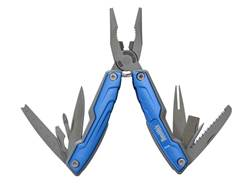 Smith's Fisherman's Multi-Tool Stainless Steel Blades Polymer Handle Blue