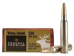 Federal Premium Vital-Shok Ammunition 338 Winchester Magnum 225 Grain Trophy Bonded Bear Claw