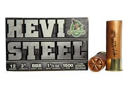 "Hevi-Shot Hevi-Steel Waterfowl Ammunition 12 Gauge 3"" 1-1/4 oz BBB Non-Toxic Shot"