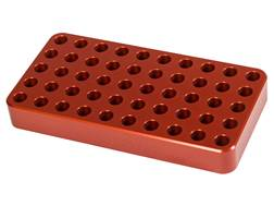 Lyman Aluminum Reloading Tray 0.388 Hole Diameter 204 Ruger, 223 Remington 50-Round Orange