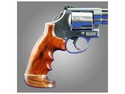 Hogue Fancy Hardwood Grips with Accent Stripe, Finger Grooves and Contrasting Butt Cap Colt Troop...