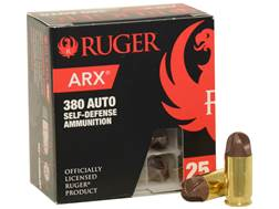 Ruger Self Defense Ammunition 380 ACP 56 Grain Frangible PolyCase ARX Lead-Free