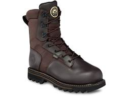 "Irish Setter Gunflint 8"" Waterproof 800 Gram Insulated Hunting Boots Leather Brown Men's"