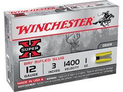 "Winchester Super-X Ammunition 12 Gauge 3"" 1 oz BRI Sabot Slug"