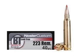 Nosler Trophy Grade Ammunition 223 Remington 40 Grain Ballistic Tip Varmint Lead-Free Box of 20