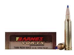 Barnes VOR-TX Ammunition 7mm Remington Magnum 150 Grain Tipped Triple-Shock X Bullet Boat Tail Le...
