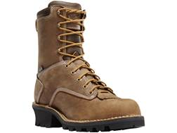"Danner Logger 8"" Waterproof Work Boots Full-Grain Leather"