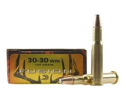 Federal Fusion Ammunition 30-30 Winchester 150 Grain Flat Nose Box of 20