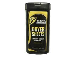 ScentBlocker Scent Elimination Dryer Sheets Pack of 20
