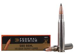 Federal Premium Vital-Shok Ammunition 280 Remington 140 Grain Trophy Copper Tipped Boat Tail Lead...
