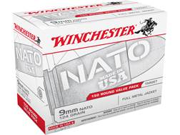 Winchester NATO Ammunition 9mm Luger 124 Grain Full Metal Jacket (Value Pack)