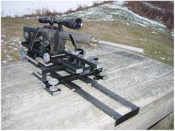 HySkore Black Gun Machine Shooting Rest