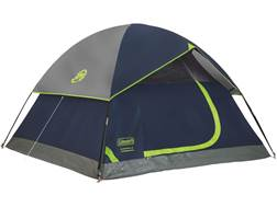"Coleman Sundome 4 Man Dome Tent 84"" x 108"" x 59"" Polyester Navy Blue and Gray"