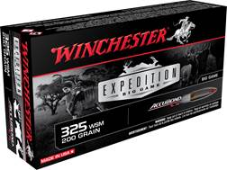 Winchester Expedition Big Game Ammunition 325 Winchester Short Magnum (WSM) 200 Grain Nosler Accu...