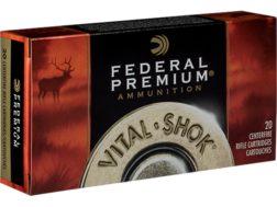 Federal Premium Vital-Shok Ammunition 7mm Remington Magnum 165 Grain Sierra GameKing Boat Tail Bo...
