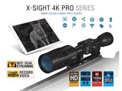 ATN X-Sight 4K Pro Series Smart HD Digital Day/Night Rifle Scope 5-20x with HD Video Recording, W...