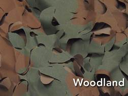 "Camo Unlimited Broad Leaf Ultra-Lite Blind Material 60"" x 15' Polyester Woodland Camo"