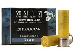 "Federal Game-Shok Heavy Field Load Ammunition 20 Gauge 2-3/4"" 1 oz #7-1/2 Shot"